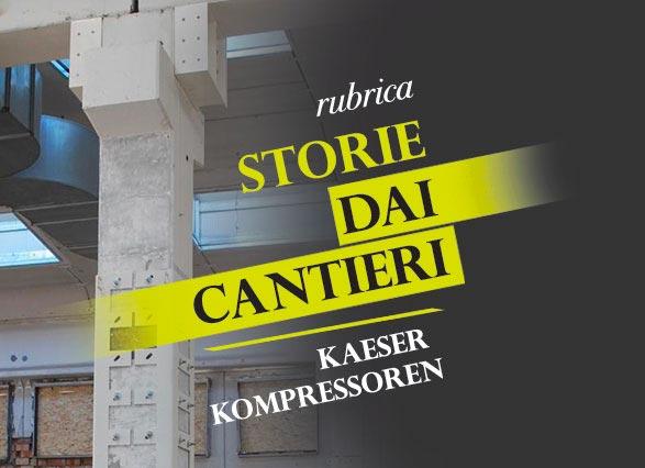 locandina delle rubrica storie dai cantieri dedicata agli adeguamenti antisismici nelle aziende italiane