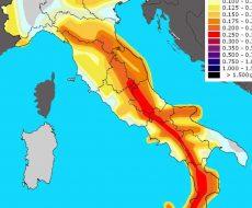 Cartina italiana rappresentante le scosse avvenute nel 2020