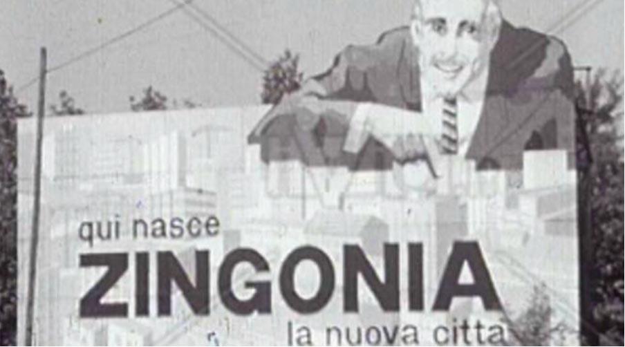 manifesto esposto alla nascita del quartiere di Zingonia