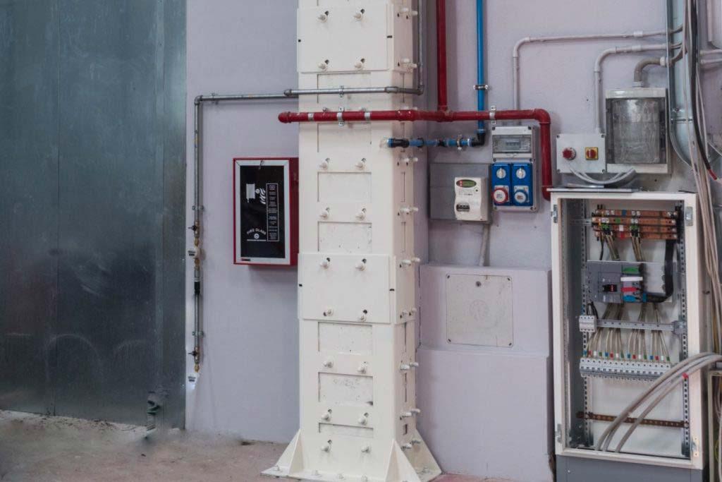 intervento di rinforzo pilastri