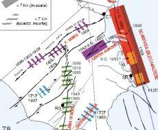 cartina con dettagli sismici della Sicilia sud orientale