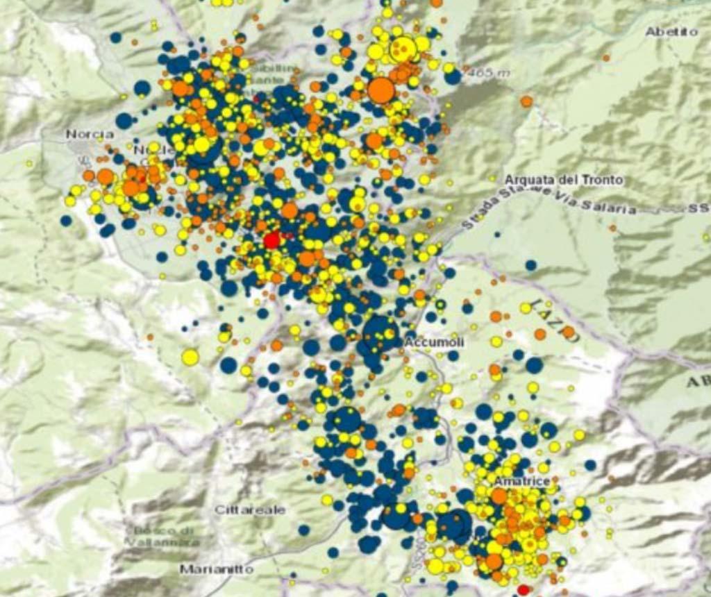 sciame sismico durante il sisma in Abruzzo