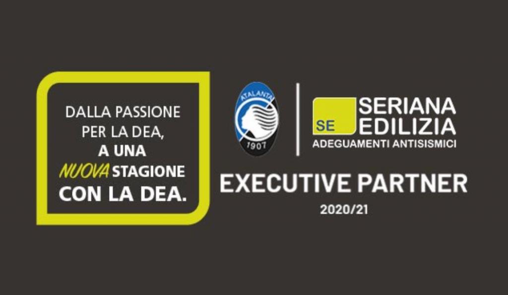locandina di presentazione della partnership Atalanta e Seriana Edilizia