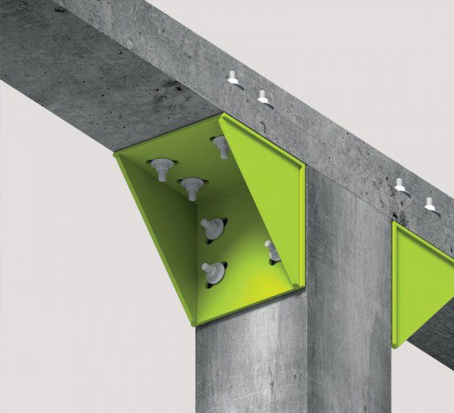 rappresentazione grafica di staffe pilastro-trave - Fase progettazione intervento antisismico
