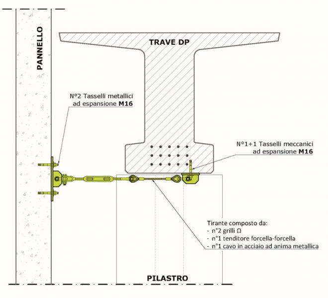 prospetto-tecnico-di-collegamento-parete-pilastro - Fase progettazione intervento antisismico