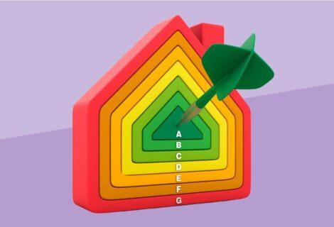 icona di una casa con livelli energetici